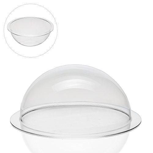 EH Design Acrylglas / Plexiglas® Halbkugel / Kugel Kunststoff mit 100mm Durchmesser und umlaufender Krempe (Glas-dome-vitrine)