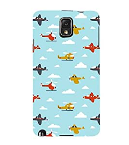EPICCASE Planes and Choppers Mobile Back Case Cover For Samsung Galaxy Note 3 (Designer Case)