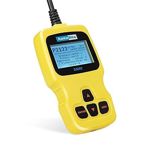 AutoDia SX40 OBD2 EOBD code reader lecteur CAN BUS diagnostic