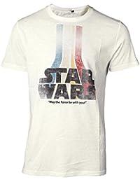 Close Up Star Wars T-Shirt Retro Rainbow Logo