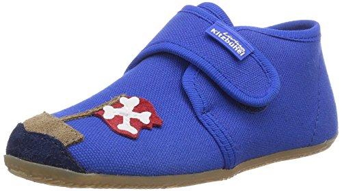 Living Kitzbühel Babyklettschuh Pirat & Teddy, Chaussures premiers pas pour bébé (garçon) - Bleu - Blau (563 blue coral)
