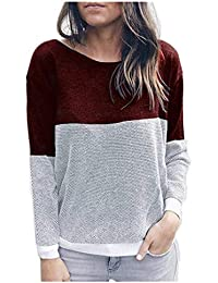 d3864c658d Emmala Sweatshirt Long Sleeve Ladies Jumper Pulli Round Neck Sweatshirts  Autumn Tops Casual Loose Blouse Elegant