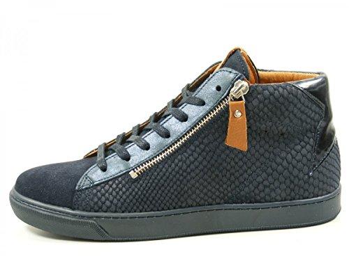 SPM 61806501 Satander Sneaker Schuhe Schnür Boots Damen Stiefeletten Blau