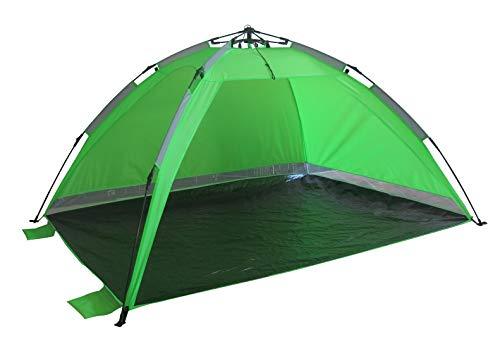 Strandmuschel Grün Strandzelt mit Schirmsystem Polyester blitzschneller Aufbau Wetter- und Sichtschutz Duhome UBT-002