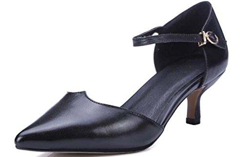 Beauqueen Gattino Pompa Semplice Scrub punta-Toe delle donne delle ragazze cinturini alla caviglia casual eleganti scarpe albicocca nera dell'Europa formato 34-39 Pink