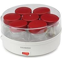 Severin - 3519 - Yaourtière - 13 W - 14 pots 150 ml - + livre de recettes - blanc/rouge