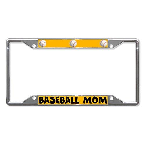 Baseball-Mom-Herzen Metall Kennzeichenrahmen Tag-Halter Vier Löcher Perfekt für Männer Frauen Auto Garadge Decor