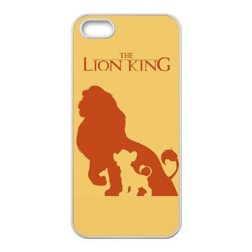 iphone5 5s White phone case Disney Cartoon Comic Series The Lion King QBC3077440