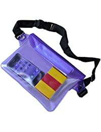 Purple : BU-Bauty Waterproof Pouch?Waterproof Case Bag With Adjustable Waist Strap For Beach, Swim, Boating, Kayaking...