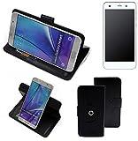 K-S-Trade® Case Schutz Hülle Für -Vestel V3 5570- Handyhülle Flipcase Smartphone Cover Handy Schutz Tasche Bookstyle Walletcase Schwarz (1x)
