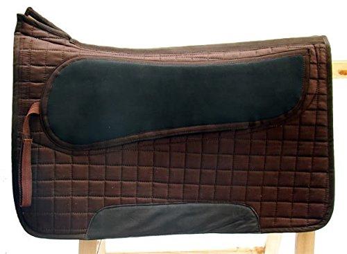 Spezielles Sattelpad LUXUS Western für baumloser Sattel, Farbe:Braun