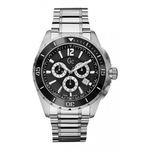 Guess Homme Chronographe Quartz Montre avec Bracelet en Acier Inoxydable X76008G2S