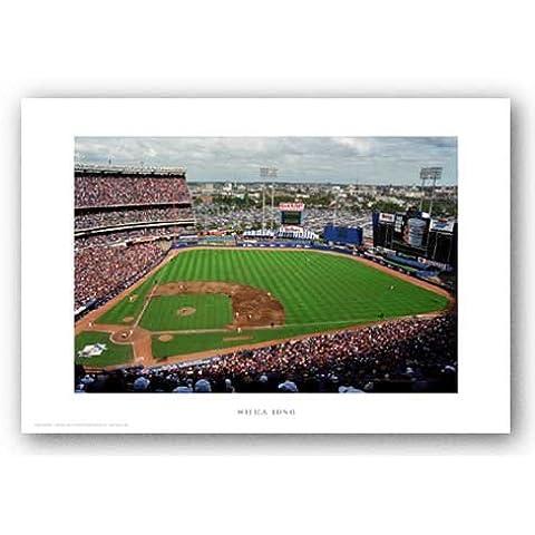 Shea Stadium, 1986, New York Mets by ira Rosen Art