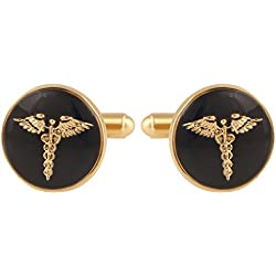 Tripin Doctor Brass Cufflinks For Men In A Gift Box