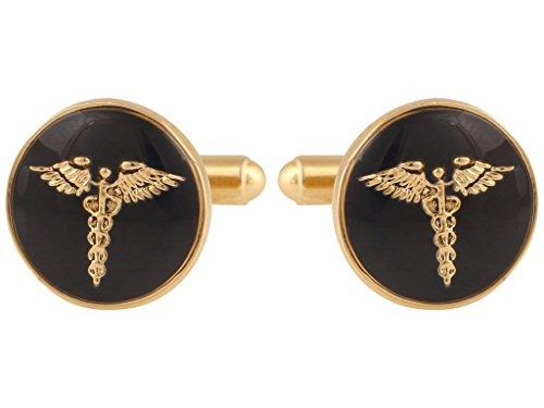 Tripin Doctor Brass Cufflinks For Men In A Gift Box