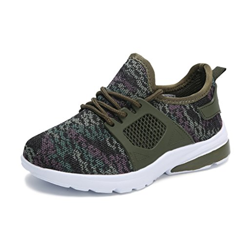 Hawkwell Chaussures de Sport Running Camouflage Sneakers Perméable Mixte Enfant Junior Couleur Camouflage 29EU