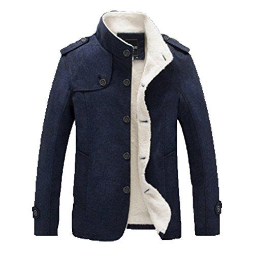 OHmais homme parka manteau d'hiver veste fourré Gris