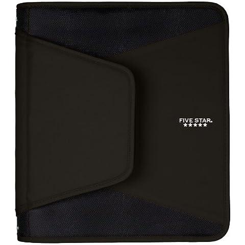 Brocha de cartón con cremallera de 5estrellas clasificador de fuelle, color negro (72204)