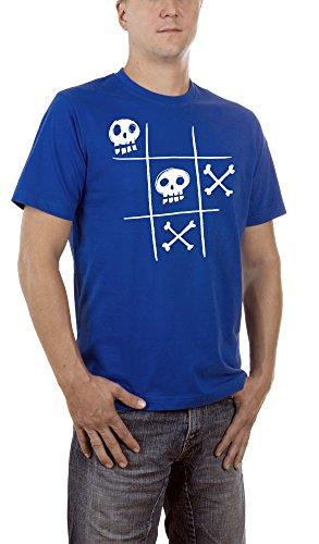 Touchlines Tic Tac Dead T- T-Shirt, Bleu (Royal), S Homme
