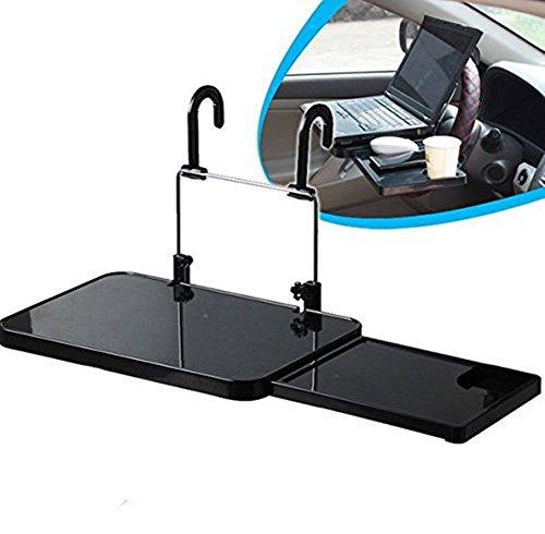 SOEKAVIA Multifunktion Auto Laptop Klapptisch Tischhalterung Autohalter mit Schublade für Auto Rücksitz Kopfstütze und Lenker