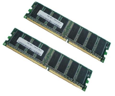 SoniceShop24 Lot de 2 barrettes de mémoire RAM 1 Go/1024 Mo DDR 400 MHz PC-3200 184 broches DIMM Capacité totale 2 Go/2048