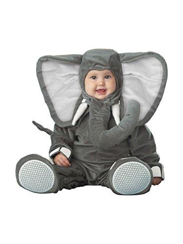Deluxe Elefanten-Kostüm für Babys mit großen Ohren 50/68 (0-6 (Ohren Kostüm Dumbo)