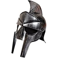 Casco gladiatore adulto cappello accessorio per travestimento da antico romano Fighter Maximus