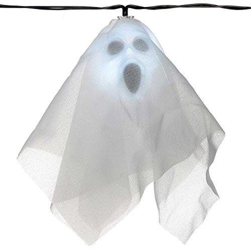 pf-Leuchten mit Netz-Stoff für die Halloween-Dekoration, weiß, 10 LEDs (Indoor-halloween-dekorationen)