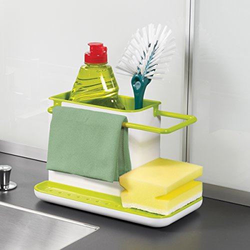 Inovera 3 in 1 Kitchen Self Draining Sink Stand For Sponge Brush Organiser,Green  available at amazon for Rs.199