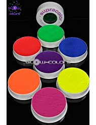 Kryolan - Pack Supracolor 7 couleurs fluorescentes 30g