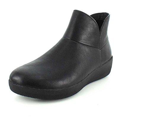 FitFlop Donna All Nero Supermod Cuoio Ankle Stivali Black