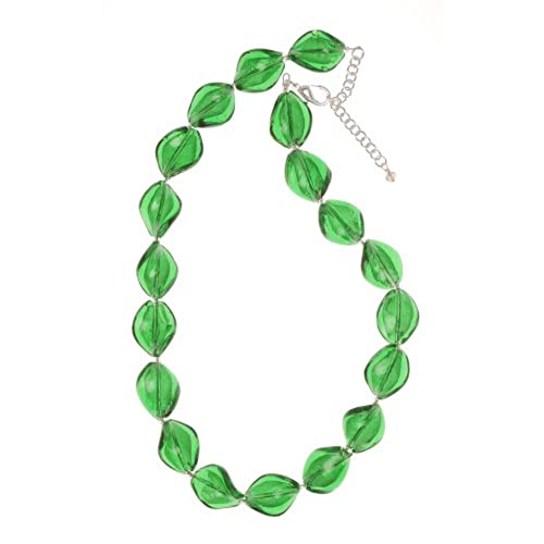 bead obianuju glamorous necklace statement necklaces rhinestone l beaded green