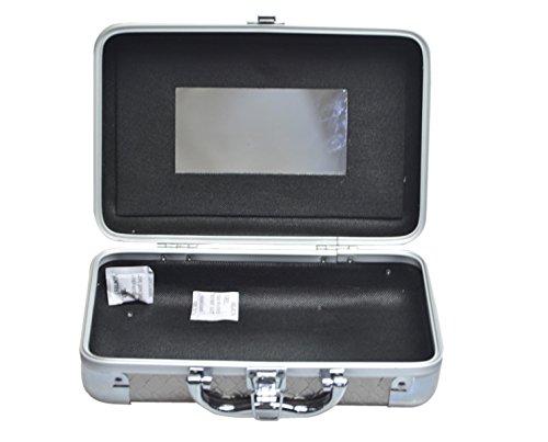 Étui Cosmétique étui Cosmétique Portable étui Professionnel Haut De Gamme,Silver-27*17*10cm