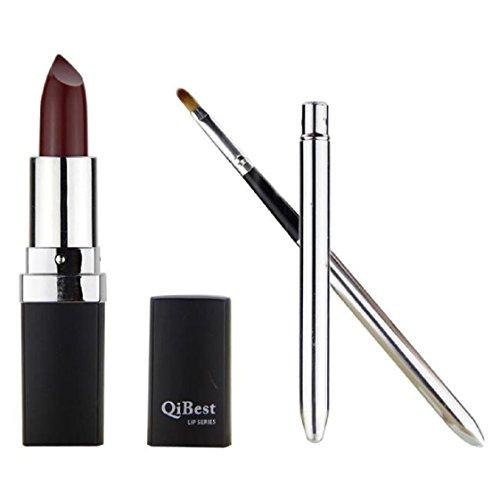 Vovotrade Mode étanche Liquid Makeup Lip Pencil Matte Lipstick Lip Gloss Super Long Lasting + Mini pinceau à lèvres (Rot #6)