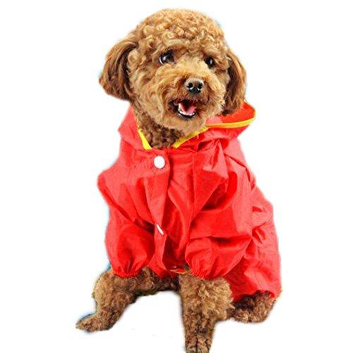Crazy Shop Pet Hund Wasserdichter Regenmantel Regen Jacke für kleine und mittelgroße Hunde (Regen-jacken Für Kleine Hunde)