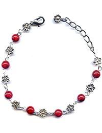 roter Korallen Armband und Blume