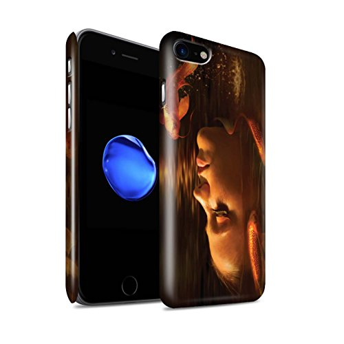 Offiziell Elena Dudina Hülle / Glanz Snap-On Case für Apple iPhone 8 / Lass Mich Rein Muster / Agua de Vida Kollektion Goldene Fische