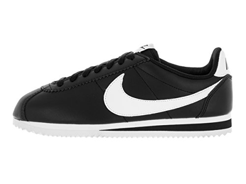 Nike Damen Wmns Classic Cortez Leather Turnschuhe, Bianco, 36,5 EU Schwarz (Black / White-White)