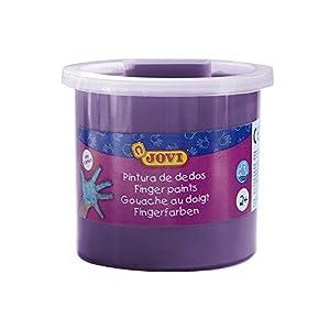 Jovi - Estuche, 5 Botes con Pintura de Dedos, 125 ml, Color Violeta (56023)