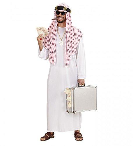 Herren Scheich Araber Kostüm - shoperama Arabischer Scheich Herren Kostüm Araber Orient Sultan Öl-Scheich, Größe:M/L