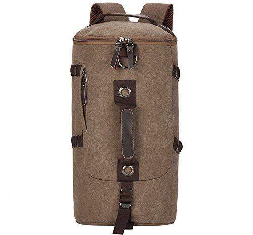 BULAGE Taschen Leinwand Lässig Mode Schultertaschen Handtaschen Schulranzen Outdoor Sport Wandern Radfahren Camping Wandern Brown