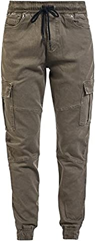 R.E.D. by EMP Relaxed Cargo Pantalon Femme olive M