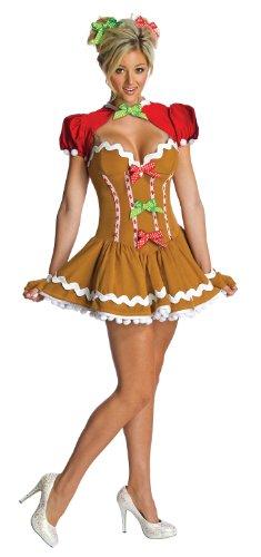 Rubie 's Offizielles Damen Ingwer Brot Kleid Weihnachten, Erwachsene Kostüm-Kleine