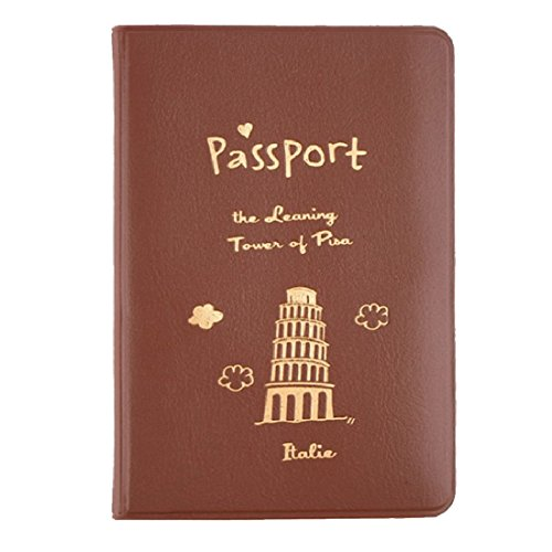1pc 3 Farben Einfache ID Dokumentenhalter Dienstprogramm Leder Spielraum Pass Halter Abdeckung ID Karten Beutel (Reise-halter Pass)