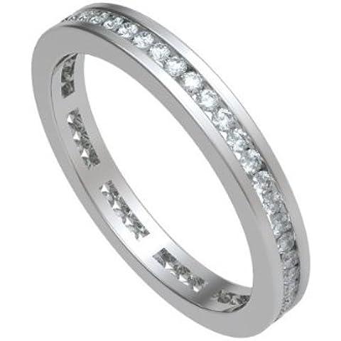 0.80ct G/SI1 Diamante Full Eternity Anello da