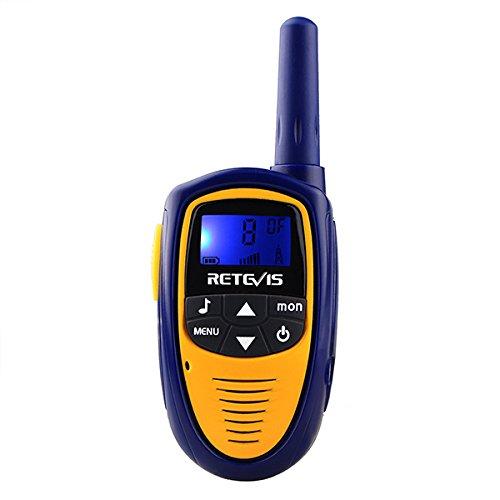 Retevis RT31 Walkie Talkie Niños UHF 0.5 W PMR446 VOX 8 Canales con Pantalla LCD Retroiluminación 10 Tonos de Llamada Selecionable Mini Radio CTCSS / DCS (1 Par Azul Oscuro)