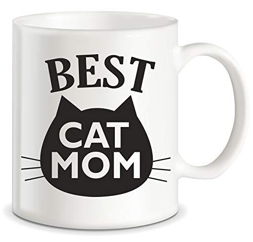 Lustige Katzen-Geschenke, Beste Katze Mama Ever Cat Memes für Katzenbesitzer Katzenliebhaber Purrrfect Weihnachten Muttertag Neuheit Geschenk Keramik Kaffeetasse Teetasse -