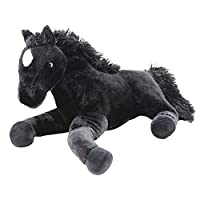 Sweety Toys 5185 XXL plush horse foal black foal soft Plush Horse