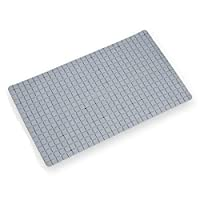 Nazaafat53 Non-Slip Bath Mat Shower Rug PVC Mat Anti-Bacterial Massaging Mat with Vacuum Suction Cup for Bathroom,35by78CM Grey