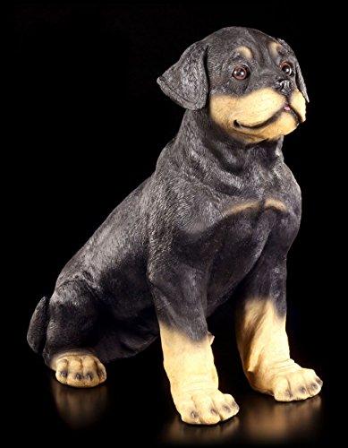 Süßer Rottweiler Welpe - Garten Figur Deko Skulptur